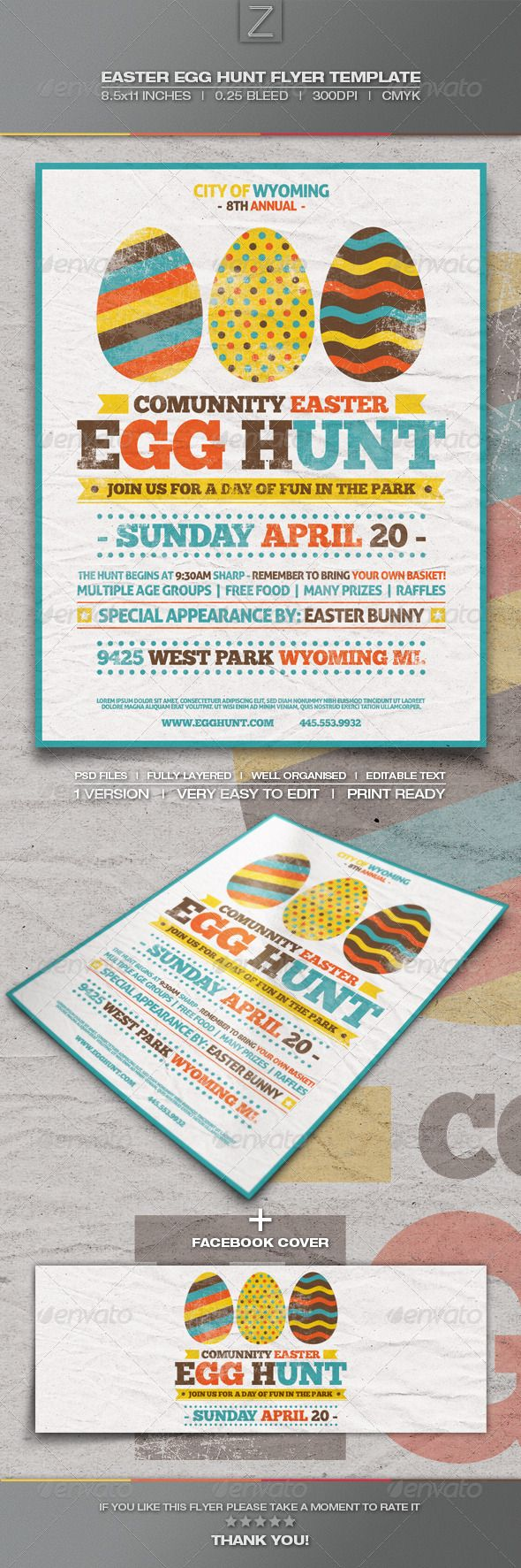 church easter egg hunt flyer template the image kid has it. Black Bedroom Furniture Sets. Home Design Ideas