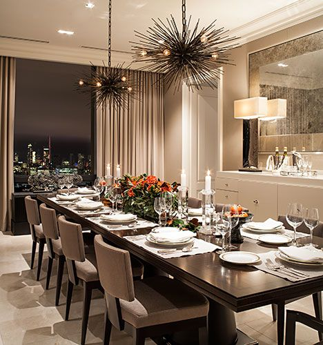 Formal Dining Room, Brilliantly Designed To Fit Your Large Family And  Friends In This Phenomenal Apartment In The Sky Thank You For Sharing This  Amazing ...