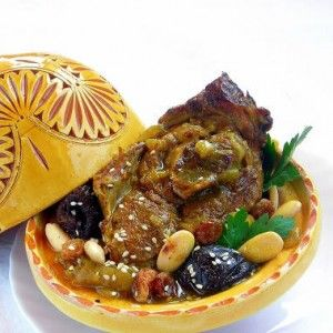 Sweet and savory combine with spices we don't usually associate in a meat dish to create a classic Moroccan Tajine - a dish usually prepared in a conical c