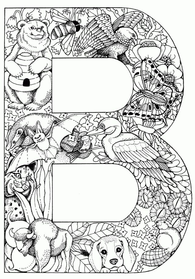 20 best coloring alphabet pages images on pinterest | free ... - Alphabet Printable Coloring Pages
