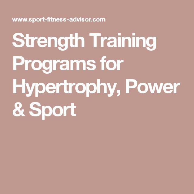 Power Training: Power Training Hypertrophy