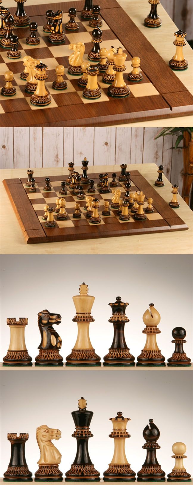 Wonderful For Display Or Frequent Play, This Heirloom Quality Chess Set Will Be  Enjoyed For Years