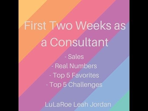 First 2 Weeks of Selling LuLaRoe - YouTube
