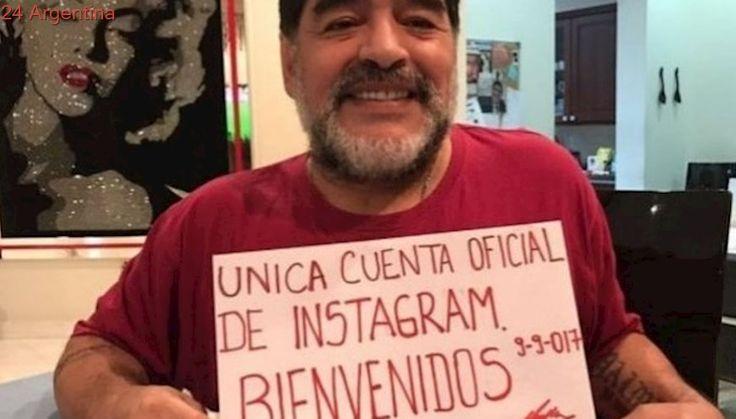 Diego Maradona llegó a Instagram y le pegó a Mauro Icardi