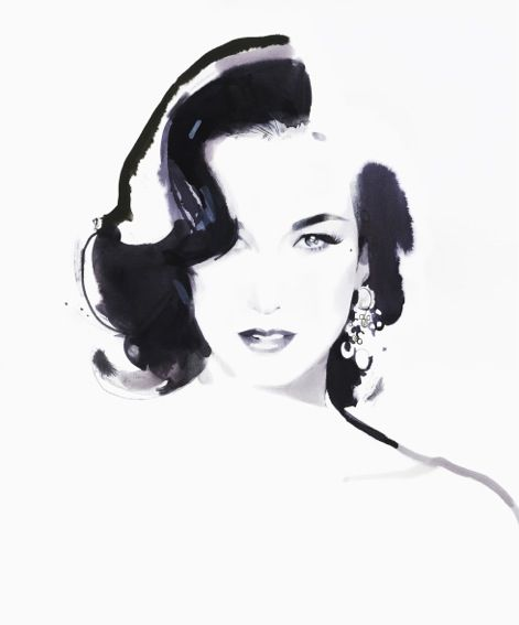 Dita Von Teese, Claridge's May 2012 David Downton