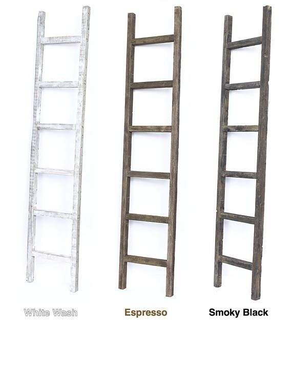 5 Foot Rustic Reclaimed Barn Wood Decorative Ladder Ladder Decor