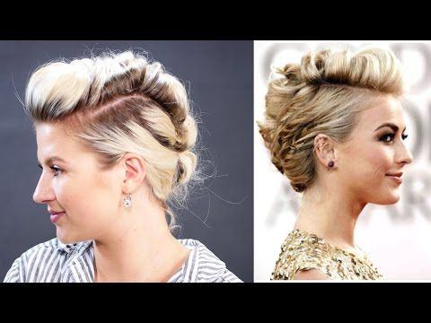 Short Hairstyle Julianne Hough How To Faux Hawk Hair Tutorial | Milabu - YouTube