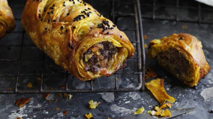 Lamb pistachio sausage rolls