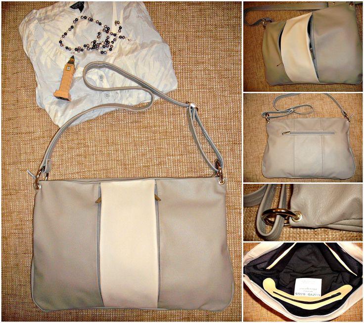 #kuzyo #bag #geniune #leather #two #shades #grey #design #trendy #fashion