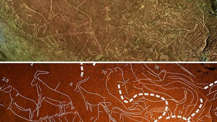 """Unusual cave art as much as 14,500 years old is found in northern Spain - and pronounced the """"most spectacular"""" in the Iberian peninsula."""