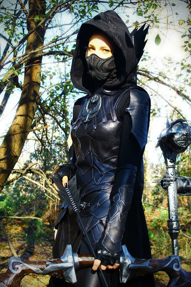 Facebook page:[Ninja Forge Cosplayer] Character: Nightingale Thief Source: The Elder Scroll V:Skyrim Performed by: Adhara NeilPhoto by: Massy Costale Foto (www.facebook.com/max.costa.965…