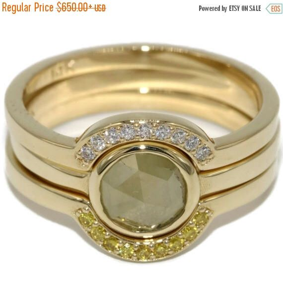 bezel set diamond rings set diamond engagement ring with wedding matching bands yellow gold wedding rings rustic engagement diamond rings - Wedding Rings For Sale