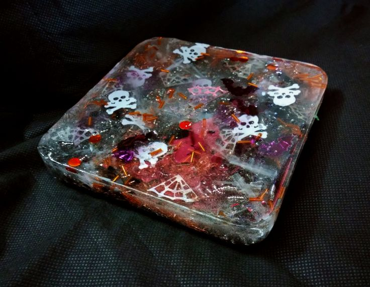 Spooky Selenite and Onyx Orgonite Charger Plate by KomacOrgonite on Etsy