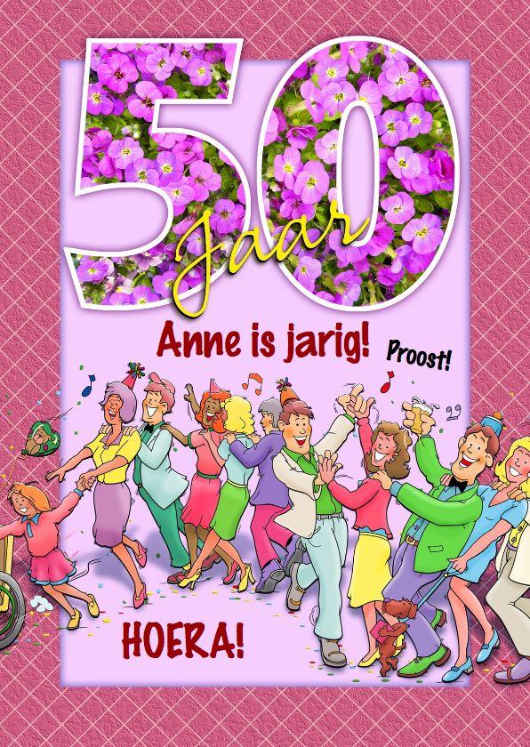 Spiksplinternieuw Grappige verjaardag polonaise voor een vrouw 50 jaar (met LQ-34