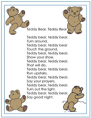 teddy bear nursery - I think my little brother use to sing this