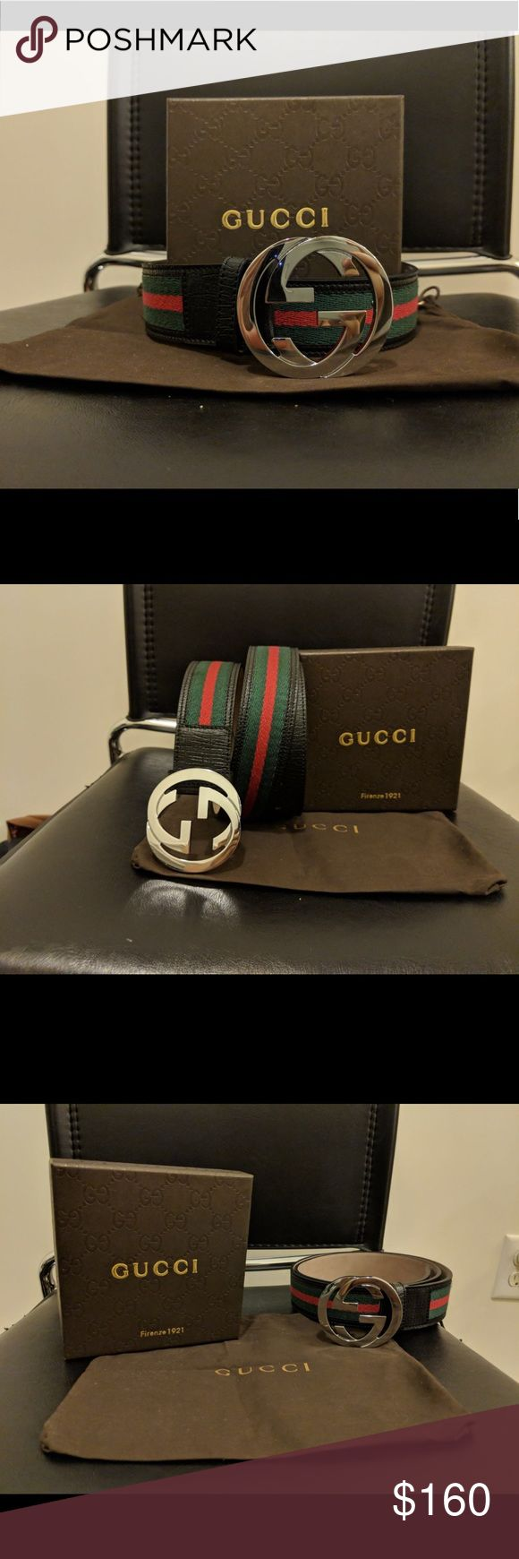 🔥HOT🔥Authentic Men's Black Green Red Gucci Belt This is a brand new never opened 100% Authentic Gucci Belt  *Bought from Gucci Outlet Store*  Comes with  -Dust Bag -Original Tags -Box   Sizing is easy just find you pants size and click buy!   Belt ships out same day through USPS Priority Shipping! Arriving in 1-3 Days   Use the offer button! If it is reasonable I will consider! Bundles are a money saver!   Feel free to drop a comment below!   Get this for your loved one for this Christmas…