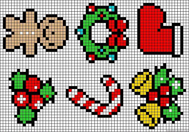 Простые схемы рождественской вышивки в традиционной красно-зелёной гамме пригодятся для выполнения небольших мотивов. Маленькую вышивку можно разместить на столовом белье, например, салфетках. Вышить мешочек для подарков или любую другую мелочь, требующую новогоднего декора вам также помогут эти маленькие рождественские схемы. Все дизайны рождественской вышивки, которые вы видите на фотографии, вы можете скачать абсолютно бесплатно по ссылке ниже: