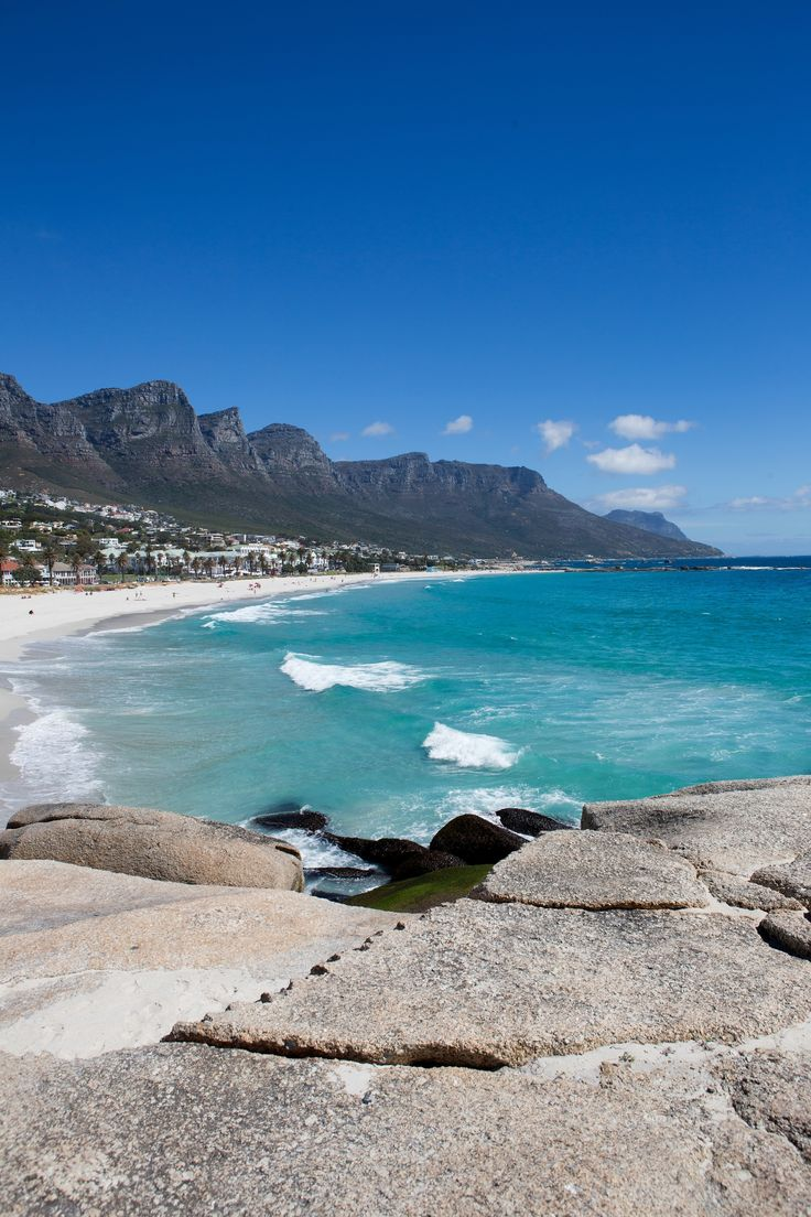 Camps Bay and Twelve Apostles escarpment in Cape Town.