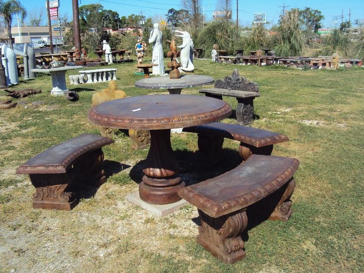 Concrete Table Set. Includes: Round Table Top, Pedestal, 6 Bench Legs 3  Bench Tops | Concrete Tables U0026 Benches | Pinterest | Concrete Table