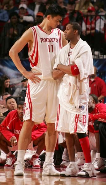 Houston Rockets Tracy McGrady and Yao Ming