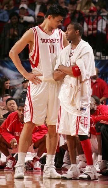 Houston Rockets Tracy McGrady and Yao Ming