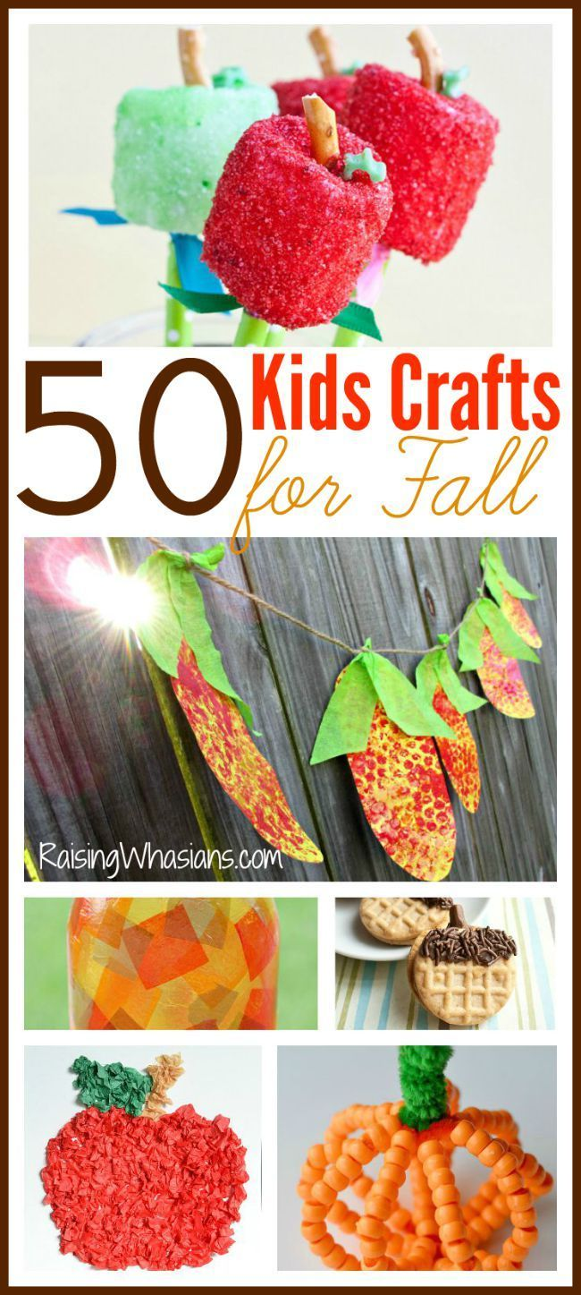 50 Kids Crafts for Fall   Your Ultimate Fall Crafting Bucket List - a huge list…