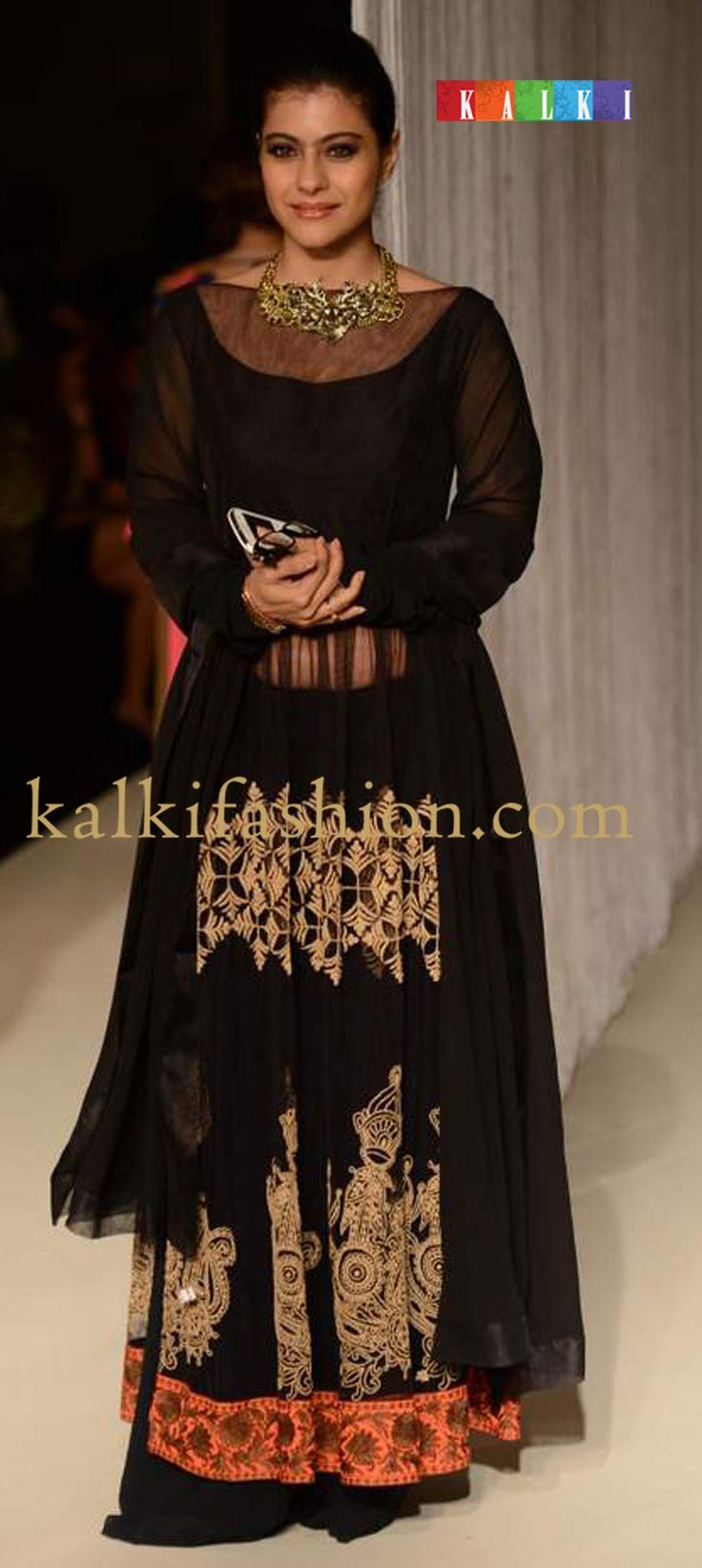 http://www.kalkifashion.com/designers/manish-malhotra.html  kajol-in-black-floor-length-anarkali-suit-by-manish-malhotra-at-lakme-fashion-week-winter-festival-2013