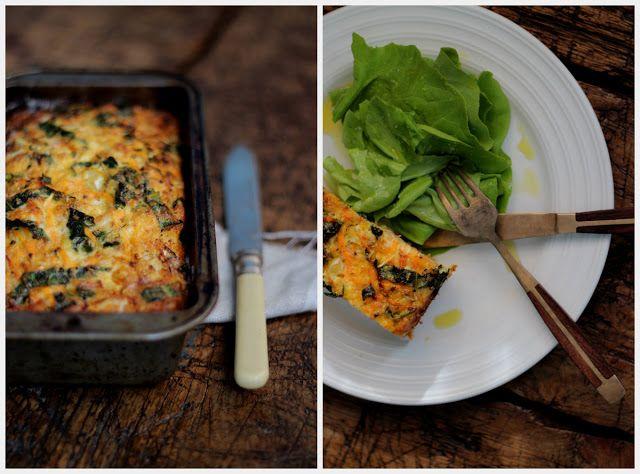petite kitchen: a simple rustic cauliflower quiche