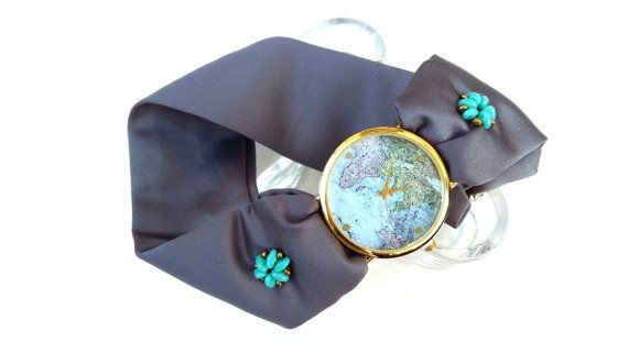 Personalized Handcrafted World Map Watch for by HARMONYHOURWATCHES