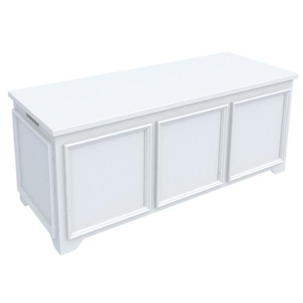 Home Decorators Collection Oxford White Storage Bench With File Storage Bf 25583 Wh The Home Depot White Storage Bench Storage Bench White Storage