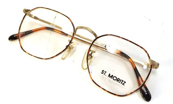 vintage 90s deadstock gold metal frame by RecycleBuyVintage