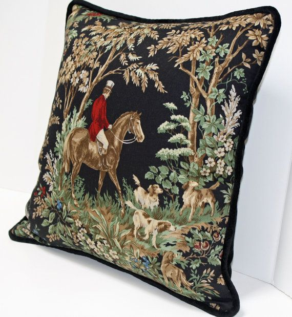 Ralph Lauren Throw Pillows Home Goods : Ralph Lauren - Ainsworth Equestrian - Onyx - Designer Pillow - 13 x 17 inch - Black - Floral ...