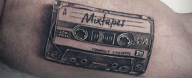 50 Cassette Tape Tattoo Designs For Men – Retro Ink Ideas