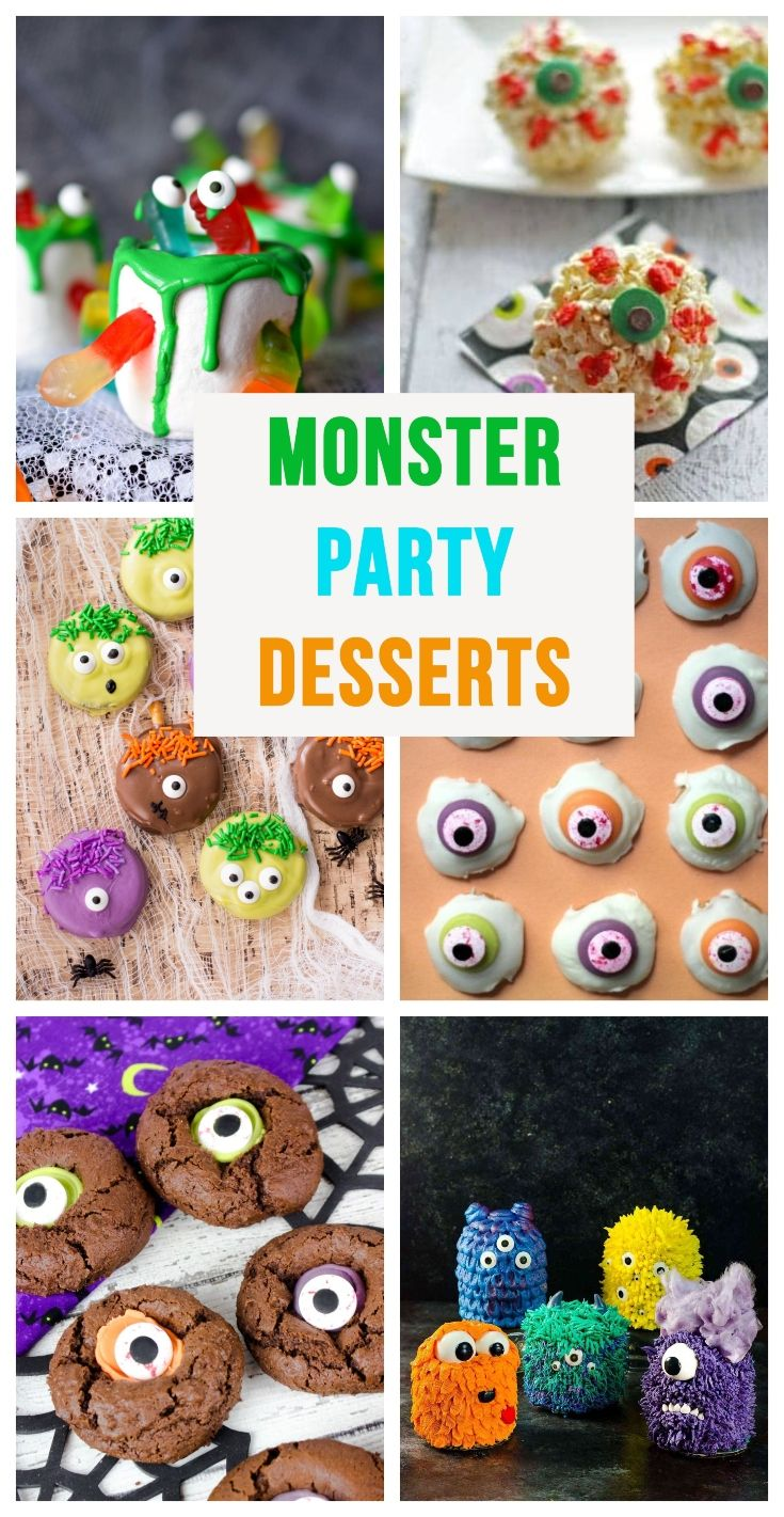 Monster Party Desserts