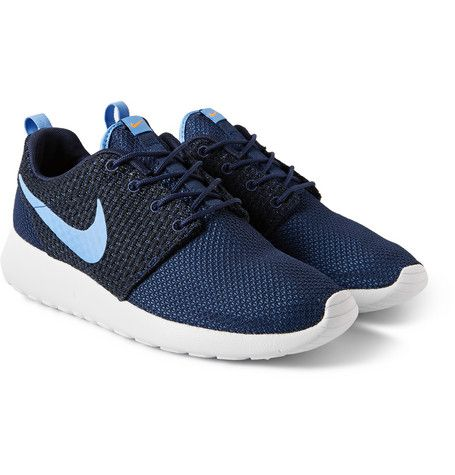 Nike Roshe Run Sneakers: Blue Roshe, Running Shoes, Nike Blue, Blue Mesh, Mesh Sneakers 75 00, Nike Roshe, Tops Sneakers, Men Shoes, Shoes Sneakers