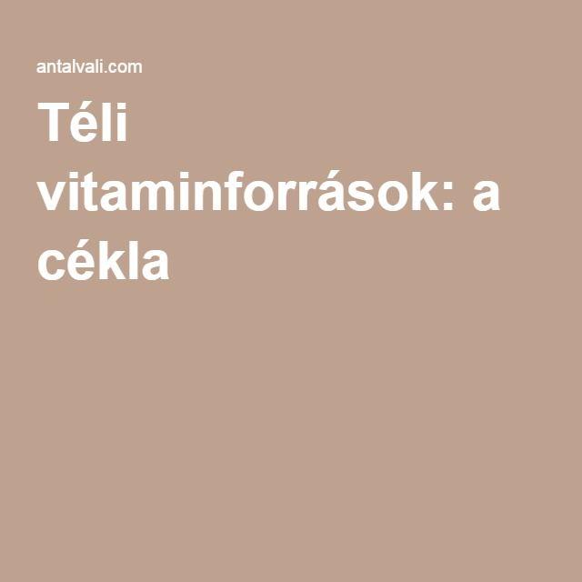 Téli vitaminforrások: a cékla