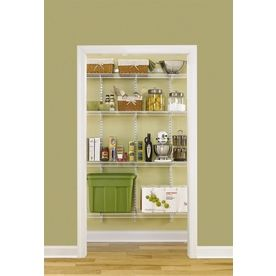 Pantry Closet   Rubbermaid FastTrack To White Adjustable Mount Wire  Shelving Kits