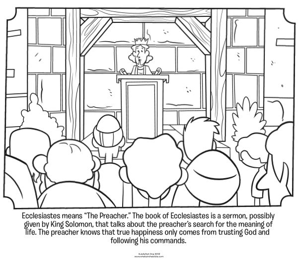 ecclesiastes 3 1 coloring pages - photo#24