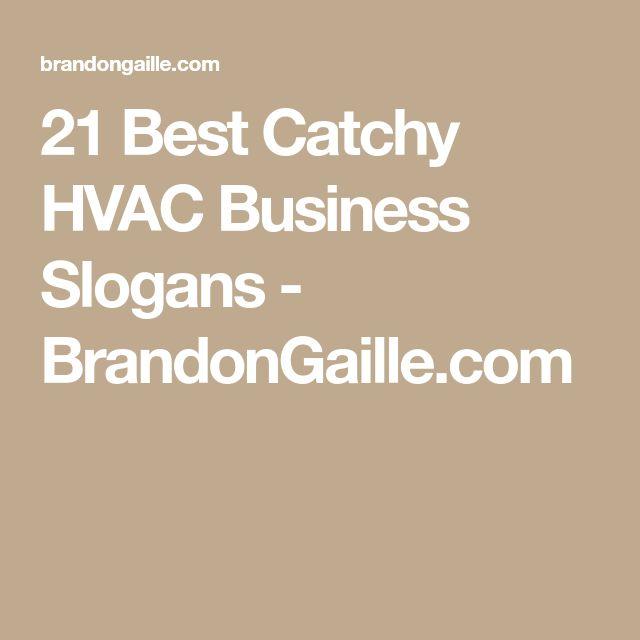 21 Best Catchy HVAC Business Slogans - BrandonGaille.com