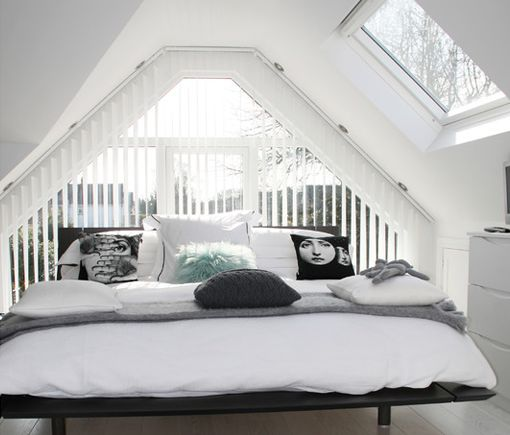 Flood With Loft Conversions With Natural Light By Using Roof Windows. Opt  For White Frames. Attic BedroomsSmall ...