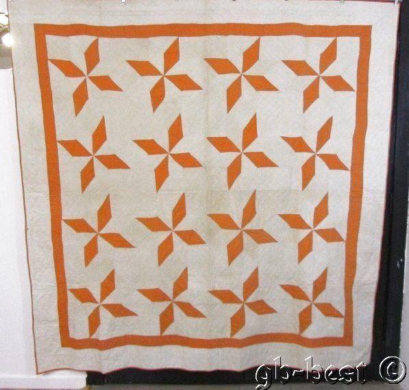 Primitive 20s Cheddar Stars Antique Quilt 82 x 80 Pennsylvania Crisp Farm House | eBay