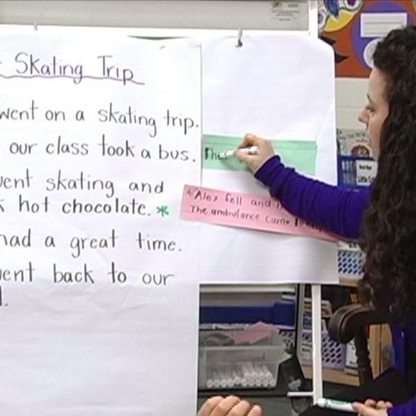 INSTRUCTION The goal of this strategy is to help students understand various interacting stages of the writing process, including revising, and to provide students with a strategy for adding details to writing. Teacher models revisions and tells students to refer to the writer's revise chart. Students work independently, have teacher-student conferences, and share revised writing. This is a successful strategy because it provides students with practice to revise their work and make…