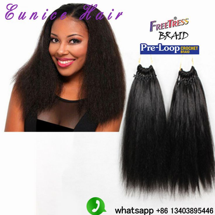 Crochet Braids Yaki Hair : crochet braids Hair Yaki Style kinky straight 18Premium Hair