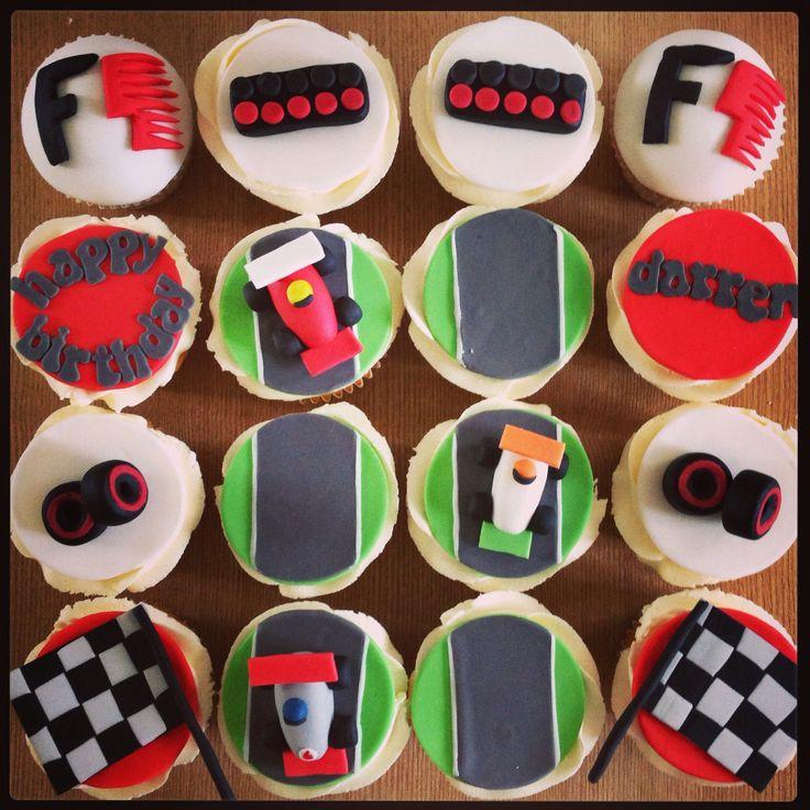 F1 cupcakes formula 1 for Cars kuchendeko