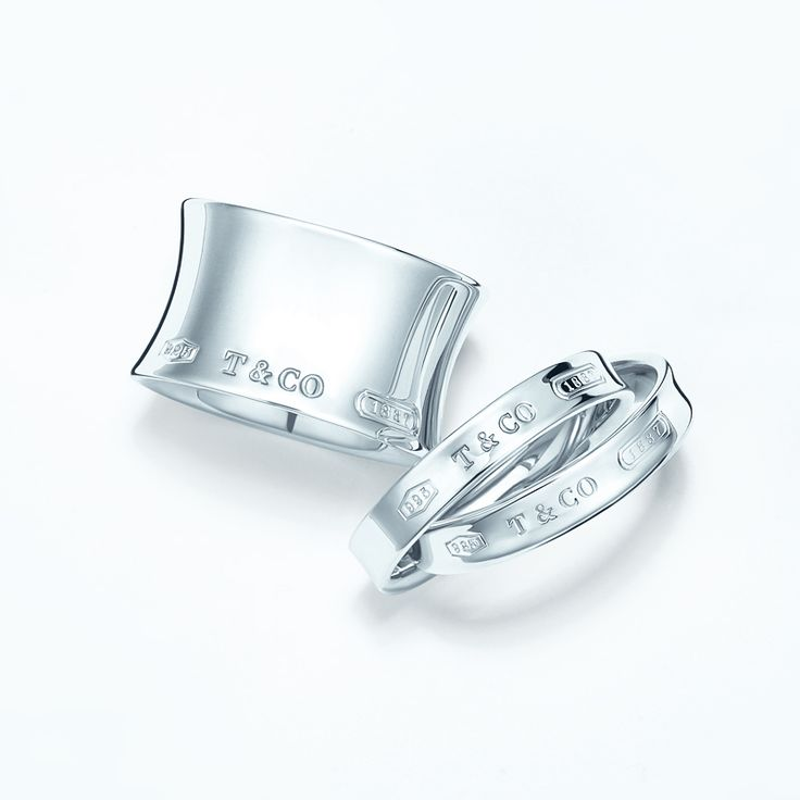 A very good year. Tiffany 1837™ rings in sterling silver. #TiffanyPinterest #silverjewelry