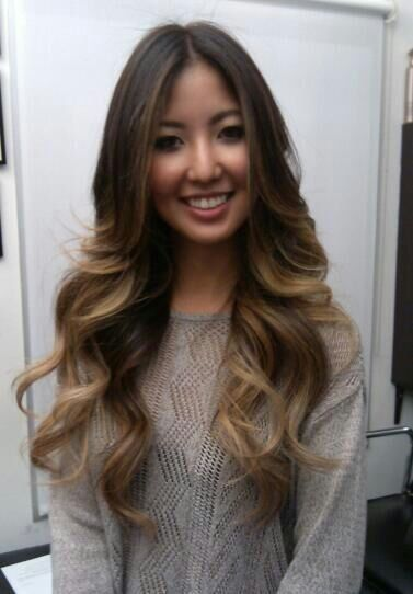 Love this colour not for ombre though. More of reverse highlights (i.e.  highlights underneath