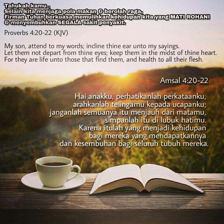 Amsal 4:20-22