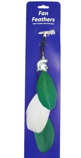 Michigan State Spartans Team Color Feather Hair Clip Z157-8669915389