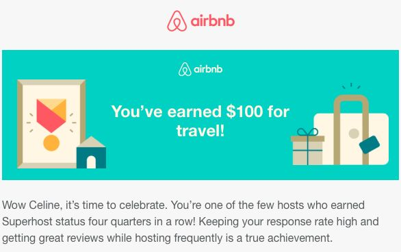 Did it again! Non-stop since 2014 @Airbnb #SuperHosts! Sincere thanks to all our wonderful #guests! We're always full-when can we use it?:)