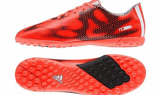 Adidas F10 Astroturf Trainers - Kids Red B39946 adidas F10 Astroturf Trainers - Kids RedFast footwork helps young players keep possession, and these F10 kids Astroturf Trainers are built to move. These F10 football shoes have a soft and durable BRA http://www.comparestoreprices.co.uk/football-equipment/adidas-f10-astroturf-trainers--kids-red-b39946.asp